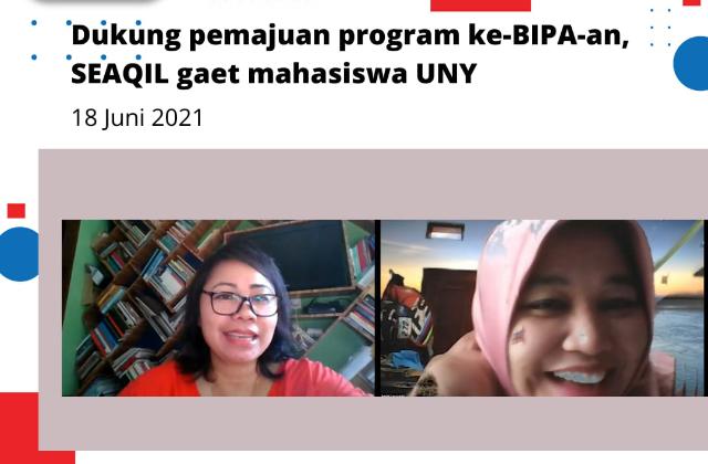 Dukung pemajuan program ke BIPA an, SEAQIL gaet mahasiswa UNY