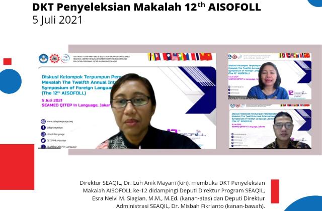 Gandeng pakar teknologi pembelajaran dalam proses seleksi:  SEAQIL umumkan 12 makalah terbaik AISOFOLL ke 12