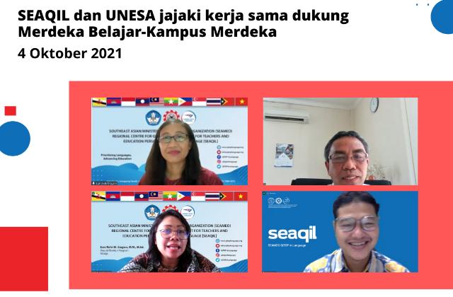 SEAQIL dan UNESA jajaki kerja sama  program MBKM, literasi, riset, dan BIPA